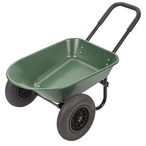 BestMassage Flat Free Yard Garden Rover Wheelbarrow,2 Tire Wheelbarrow Garden Cart by BestMassage (Image #7)