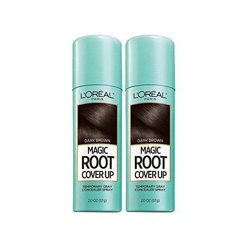 L'Oreal Paris Root Cover Up Temporary Gray Concealer Spray Dark Brown 2 oz (Pack of 2) (Packaging May Vary) -