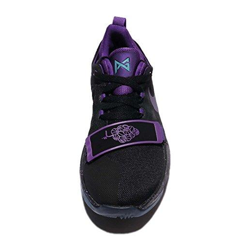 Nike Barna Pg 1 Gs Black / Domstol Lilla-hyper Drue