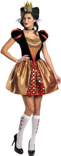 Disguise Women's Alice In Wonderland Movie Sassy Queen Costume, Red, Womens L (12-14) (Disney Couples Costume)