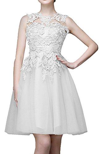 Mini Spitze mia Tanzenkleider Abendkleider Beige Braut La Cocktailkleider Ballkleider Knielang Weiß mit Kurzes HwxIf0wnBq