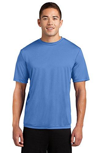 Dri-Tek Mens Big & Tall Short Sleeve Moisture Wicking Athletic T-Shirt, XLT, Carolina Blue