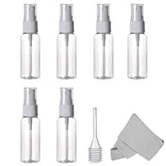 Alink Empty Clear 30ml 1 oz Fine Mist Spray Bottle is coming!  You can use our spray bottle in everywhere!  ❆It is a great convenient, portable size! These refillable bottles are great for cleaning sprays, rubbing alcohol for first aid kits, ...