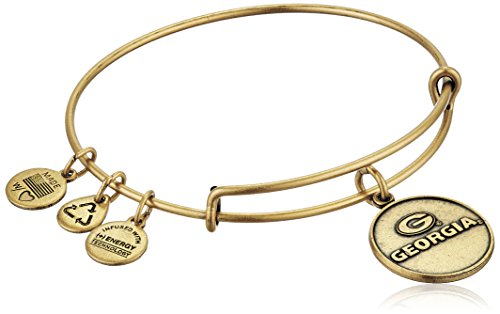 (Alex and Ani University of Georgia Logo Expandable Rafaelian Gold Bangle Bracelet)