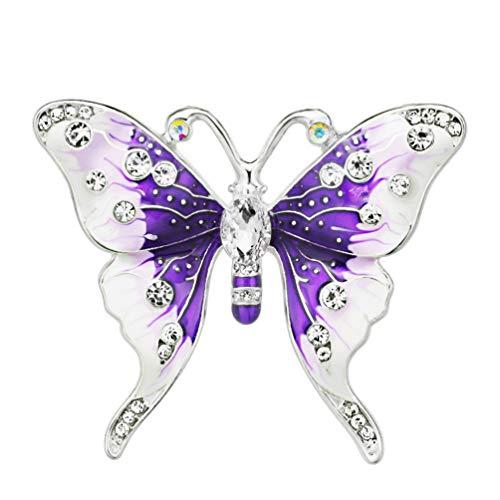 TZNBROCHS Butterfly Brooches Rhinestone Buckle for Women Party Wedding Brooch Pins