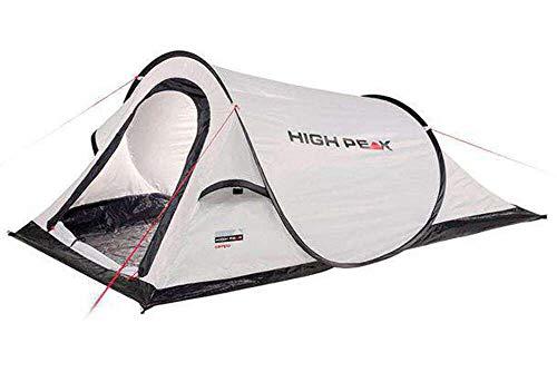 High Peak Campo 2 Werptent, pop-up, voor 2 personen, festivaltent met badbodem, super lichte snelopening, 1500 mm…