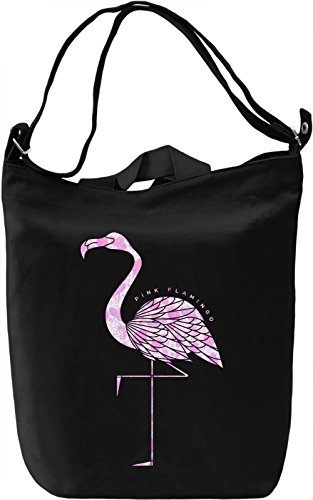 Pink Flamingo Borsa Giornaliera Canvas Canvas Day Bag| 100% Premium Cotton Canvas| DTG Printing|