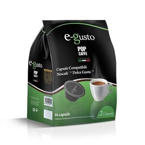Pop Caffè - 160 cápsulas E-gusto, mezcla, 2 cremoso, compatibles con Nescafè Dolce Gusto: Amazon.es: Hogar