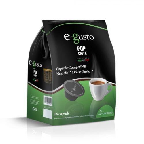 Pop Caffè - 160 cápsulas E-gusto, mezcla, 2 cremoso, compatibles con Nescafè Dolce Gusto