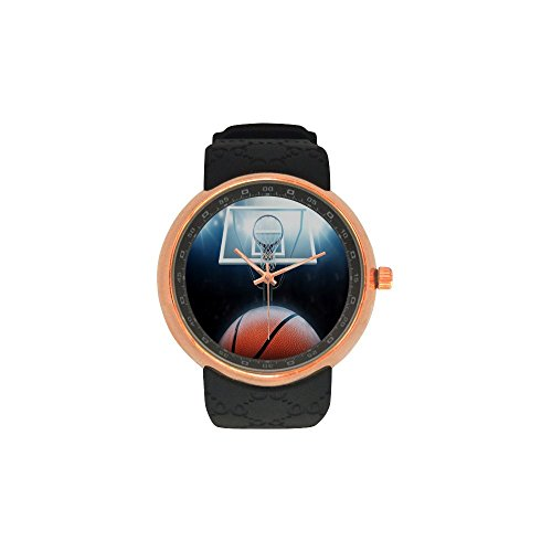 Male Basketball Resin - Easter's Day Gift Basketball Men's Rose Gold Plated Resin Strap Watch