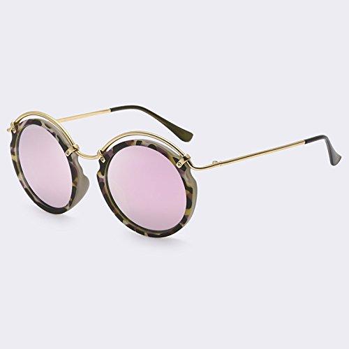 para marco gafas de sol de mujer C03 TIANLIANG04 Retro de Vintage con de señora Círculo C03 sol sombras metal Gafas vYXwqBYnA