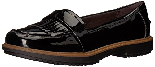 Clarks Women's Raisie Theresa Loafer Black Synthetic Patent JjGkMoN9P8