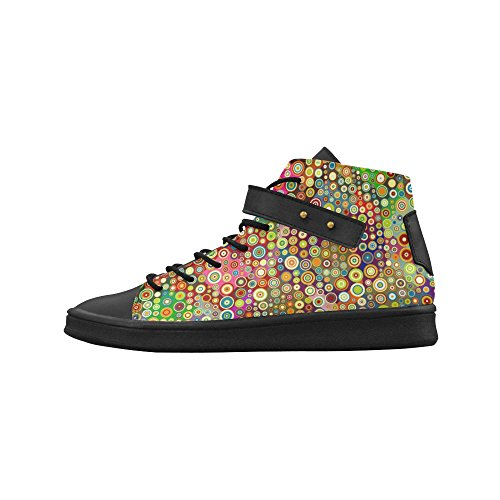 Artsadd Polka Dots Motif Bout Rond Chaussures Pour Femmes Boost Sneaker