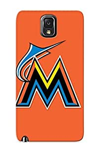 Quality Storydnrmue Case Cover With Baseball Miami Marlins Nice Appearance Compatible With Galaxy Note 3()