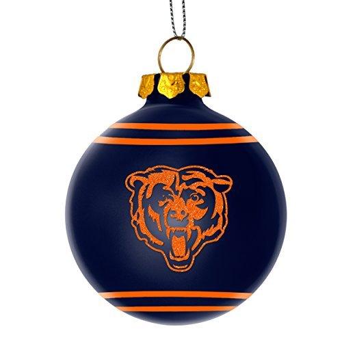 2014 NFL Football Team Glitter Logo Glass Ball Ornament - Pick Team (Chicago Bears) (Team Football Ornament)