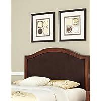 Home Styles Duet King/California King Camelback Headboard, Brown Microfiber Inset
