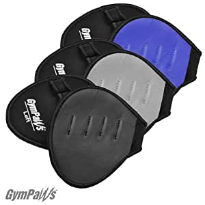 Gym Glove Alternative | Leather and Neoprene Weight Lifting Grips | 3 Pack Blue, Black, Grey