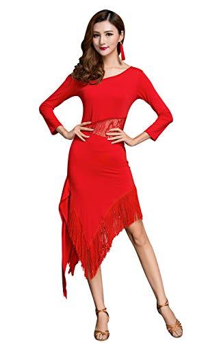 ZX Women's Fringed Latin Dance Dress Fancy