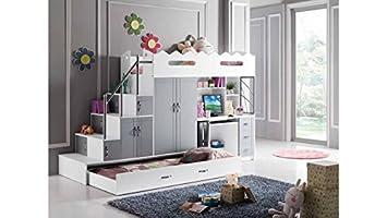 mobilier nitro Cama Alta Noa Tipo litera con 2 colchones Infantiles