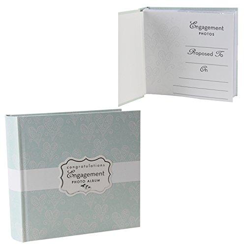 "Love & Cherish Pearlised Paperwrap Album 4"" x 6"" Engagement"