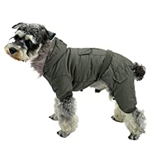 PAWZ Road Pet Clothes Hoodie Dog Winter Coat Warm Jacket Super Warm and Strong Green XS