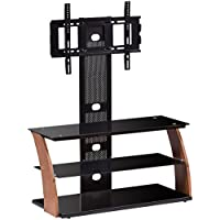 Tangkula 3-Tier TV Stand Rack Console for 60 Screen Glass