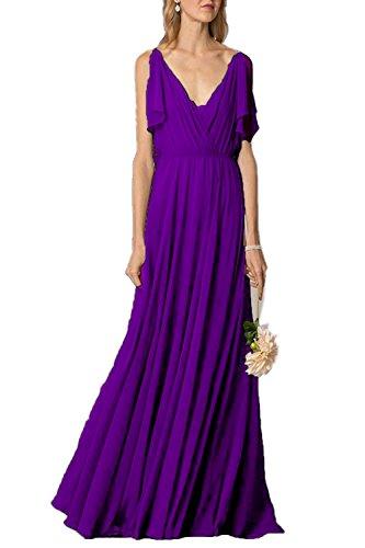 Kleid Damen Linie A Violett Fanciest qgS6Ac