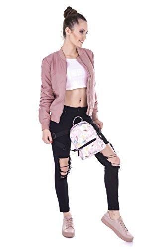 Fringoo Mini-Rucksack für Damen / Mädchen Tropical Doodle - mini