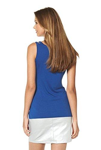 Buffalo - Camiseta sin mangas - Opaco - para mujer Azul