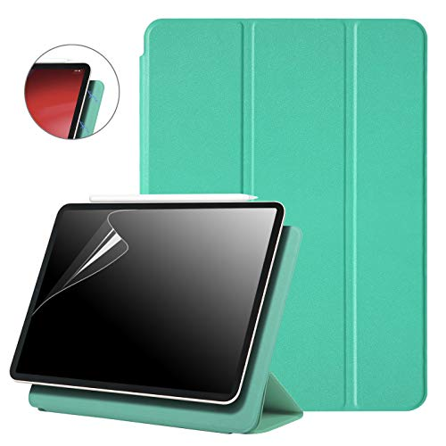 HDE iPad Pro 11 Case [Magnetic Attachment Back Cover] Ultra Slim Smart Folio Cover Trifold Stand for Apple iPad Pro 11 inch - Supports Apple Pencil Charge