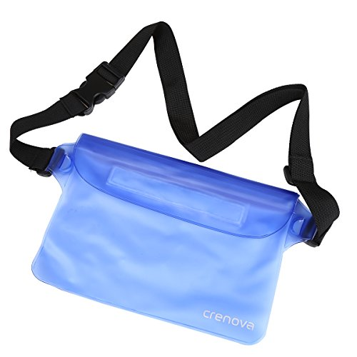 Waterproof Pouch | Crenova BP-02 100% Waterproof Dry Bag Snowproof Dirtproof Sandproof Case Bag with Super Lightweight and Bigger Space; Adjustable and Extra-Long Belt; Perfect for Beach / Swimming / Boating / Fishing