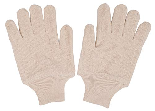 ABC 12 Pairs Terry Cloth Gloves 24 oz. Industrial Oven Gloves for Heat Protection. General Purpose Gloves with Elestic Wrist. Heat Resistant Gloves for Baking, Cooking Needs. Natural Color.