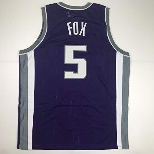Unsigned De'Aaron Fox Sacramento Purple Custom Stitched Basketball Jersey Size Men's XL New No Brands/Logos ()