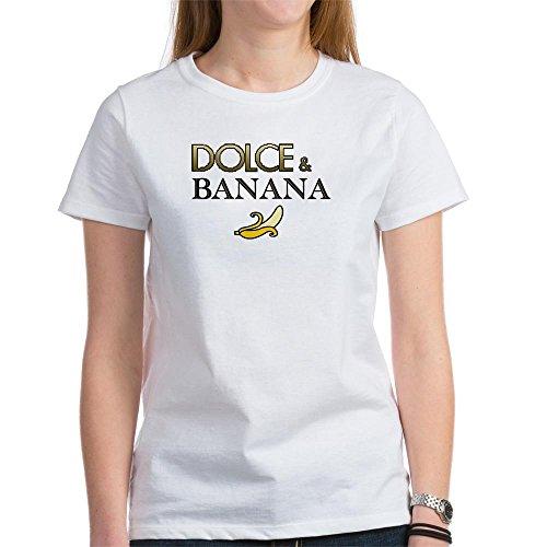 CafePress Dolce & Banana Women's T-Shirt - Womens Cotton T-Shirt, Crew Neck, Comfortable & Soft Classic - Dolce Shirt T Banana