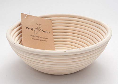 Professional Banneton Proofing Basket 8.5 Inch. A Natural Rattan Brotform - Perfect for Rising Dough for Artisan Bread Baking. by Proof Perfect