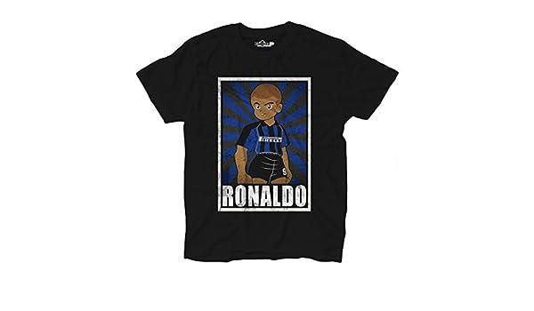 Camiseta de fútbol vintage de Ronaldo en el Inter, parodia de Oliver y Benji: Amazon.es: Deportes y aire libre