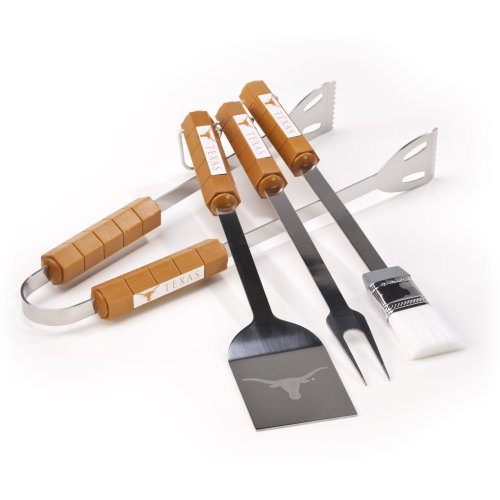 NCAA Texas Longhorns 4 Piece Barbecue Set