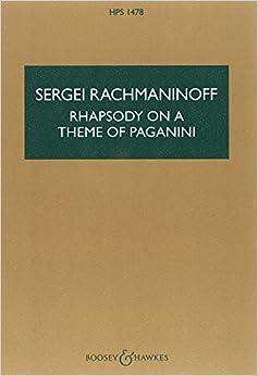 ラフマニノフ: パガニーニの主題による狂詩曲/ブージー & ホークス社/ロンドン/スコア ピアノ協奏曲