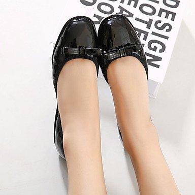 Cómodo y elegante soporte de zapatos de las mujeres pisos primavera/verano/otoño Square Toe/Flats Casual Flat Heel bowknotwalking Almond
