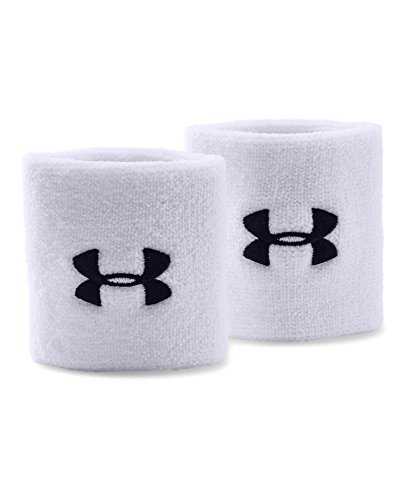 "Under Armour 3"" Performance Wristband, White , One Size"