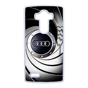 Logotipo de Audi caso G4 M8Q76Y9WT funda LG Funda 0146Y5 blanco