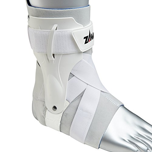 Zamst Ankle Brace Support Stabilizer: A2-DX Mens & Womens Sports Brace for Basketball, Soccer, Volleyball, Football & Baseball,White,Right,X-Large by Zamst (Image #2)