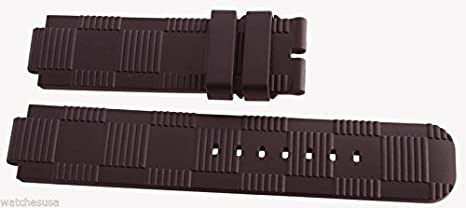 73d1e127a483 Louis Vuitton Tambour LV OEM Men s Dark Brown Rubber Watch Band Strap 12mm  x 21mm  Amazon.co.uk  Watches