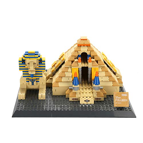 Goshfun Egypt Pyramids of Giza Model Building Block Set, 643Pcs DIY Small Particle Famous Architectural Theme Building Block Assembled Model Kit, Educational Toy Gift for Adults and Children