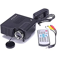 Qisc Mini Home Multimedia Cinema,1080P home projector