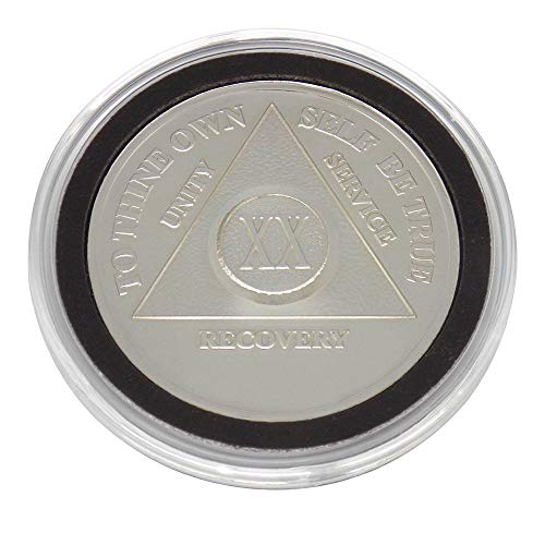 20 Year - Special AA Coins - .999 Silver AA Medallion   Recovery Shop (Ounce Silver 0.5 Coin)
