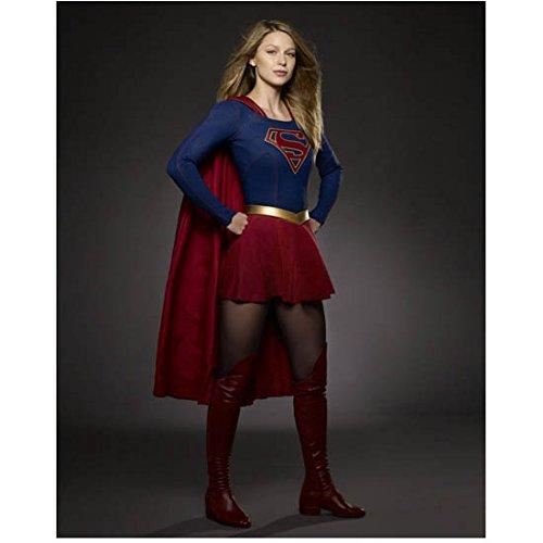 Supergirl (TV Series 2015 - ) 8 inch by 10 inch PHOTOGRAPH Melissa Benoist Turned Slightly Left Dark Grey...