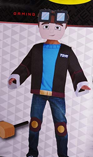 Tube Heroes Dan TDM Minecraft 3D Halloween Costume YouTube Gaming Medium 8-10 ()