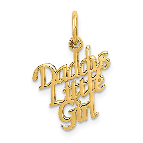 14k Yellow Gold Daddys Little Girl Pendant Charm Necklace Fine Jewelry Gifts For Women For Her