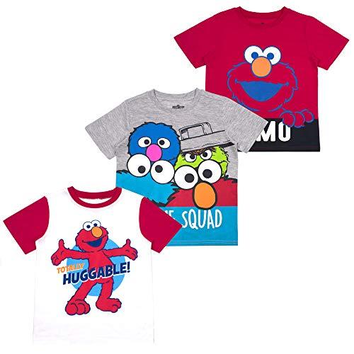 Sesame Street Boys' T-Shirt (Pack of 3) 18M RED]()